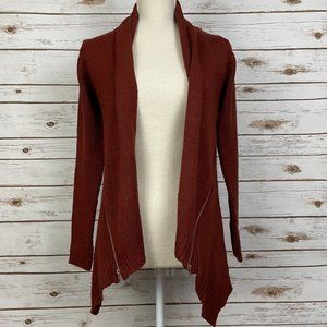 Anthro Curio Sweater Cardigan with Zipper Detail